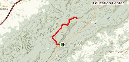 Appalachian Trail: Dead Woman Hollow Road to Michaux Road  Map