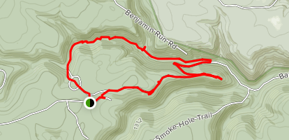Baker Run Loop Trail Map