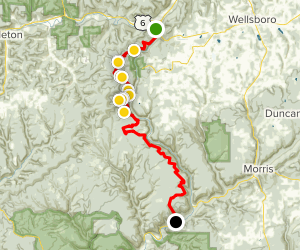 West Rim Trail: Grand Canyon- Hiking South Map