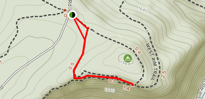 Barbour Rock Trail Map