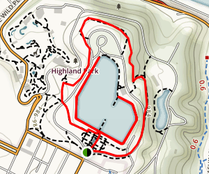 Highland Park Double Loop Trail Map