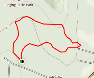 Ringing Rocks Trail Map