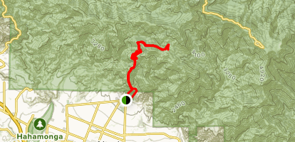 Firebreak Trail to Mount Lowe Campgrounf Trail Map