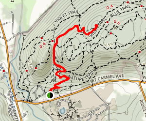 Sleeping Giant Tower Trail Map