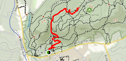 Sleeping Giant Tower Trail [CLOSED] Map