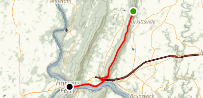 Appalachian Trail: Crampton Gap to Harpers Ferry Map