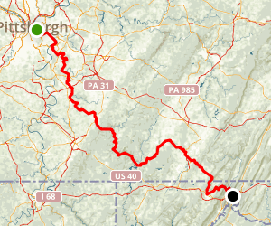 Great Allegheny Passage (Allegheny Highlands Trail) Map