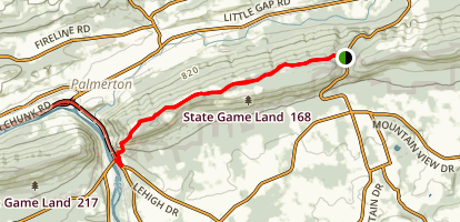 Blue Mountain Ski Area via Appalachian Trail Map
