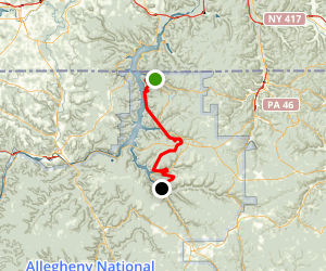 North Country Trail: PA 346 to PA 321 Map