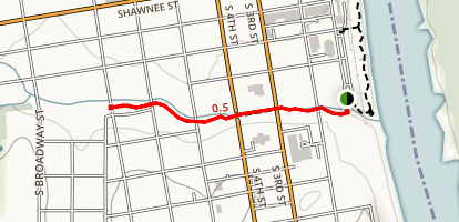 Three Mile Creek Trail and Downtown Map