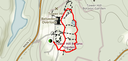 Tower Hill Botanic Garden Loop Trail Map