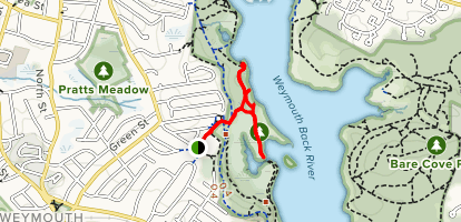 Julia Road Playground and Great Esker Trails Map