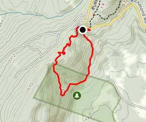 Olivia's Overlook Via Charcoal Trail Map