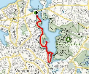 Weymouth Back River Walk Map
