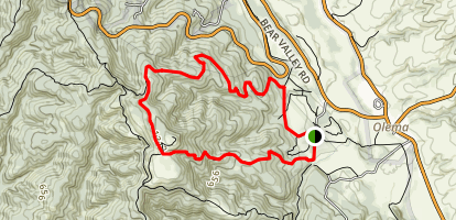 Bear Valley Morgan Loop Map