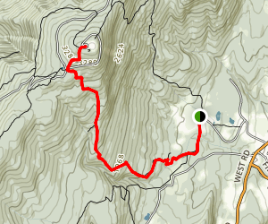 Gould Trail to Mount Greylock Map