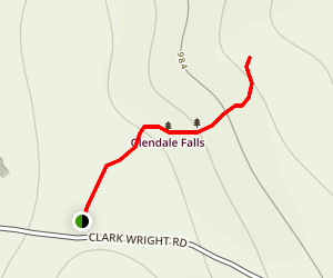 Glendale Falls Trail Map
