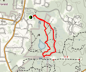 Cranberry Pond Via Red Trail Loop Map