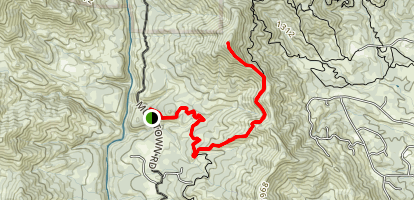 Stoney Gultch Trailhead to Mule Mountain Summit Map