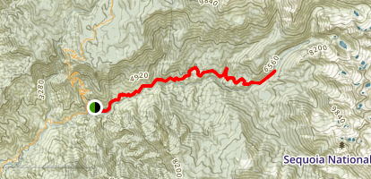 Middle Fork Kaweah Trail Map