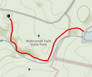 Wahconah Falls Map