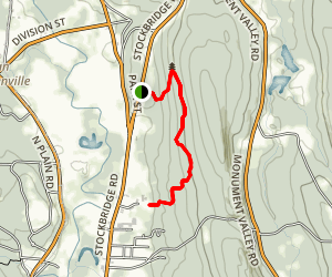 Threemile Hill Trail at Fountain Pond Map