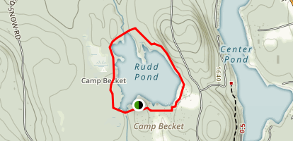 Rudd Pond Loop Trail Map
