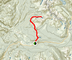 Young Lakes, Mt Conness, Roosevelt Lake Trail Map