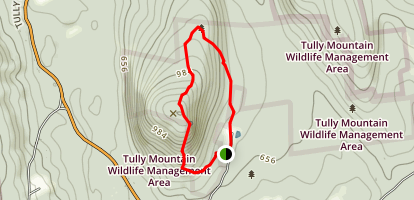 Tully Mountain Loop Trail Map