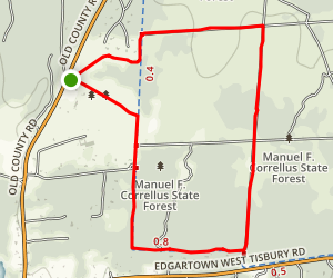 Manuel F. Correllus Forest Trails Map