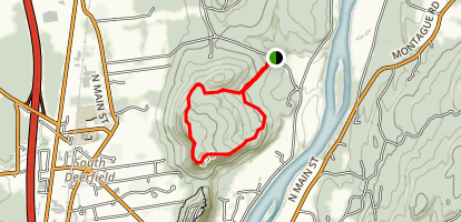 North Sugarloaf via Brookside and Pocumtuck Ridge Trail Map