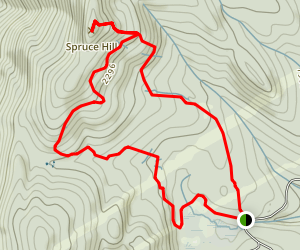 Busby Trail to Spruce Hill Loop Map