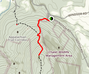The Cobbles via Appalachian Trail Map