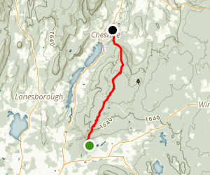 Appalachian Trail: Dalton to Cheshire Map