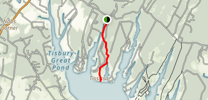 Tisbury Great Pond Trail Map
