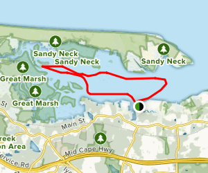 Barnstable Harbor and Great Marsh of West Barnstable Map