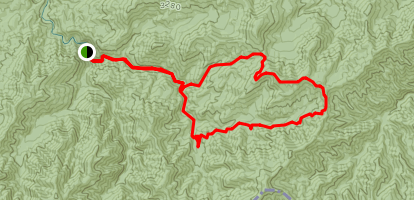 Middle Prong, Lynn Camp, Miry Ridge-Panther Creek Loop Map