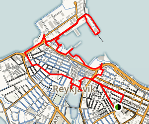 Walking Tour of Reykjavik Map