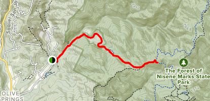 Hinkley Basin Fire Road to Sand Point Overlook Map