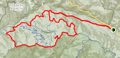 Hihn's Sulphur Springs Road Trail to Coral Road and Ridge Trail Loop Map
