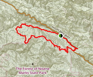 Demonstration Forest Flow Trail Loop Map