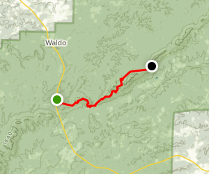 Porter's Gap to Clairmont Gap Map
