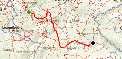 Limes to Radweg Map