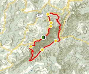 Rock Castle Gorge Loop Map