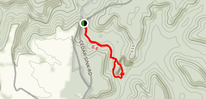Cedar Sink Trail Map