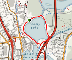 Leamy Lake- Sentier du Lac Leamy Map