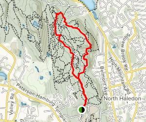 High Mountain Lookout Point and Waterfall Loop Map
