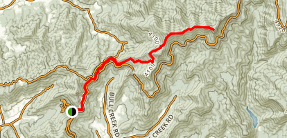Blue Ridge Parkway: Craven Gap to Lane Pinnacle Map