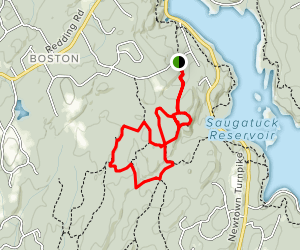 Great Ledge and Bedford Trail Loop Map