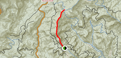 Buckwheat Knob and Club Gap Map